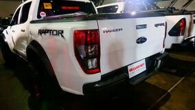 Ford ranger raptor pick up at Philippine Autocon car show
