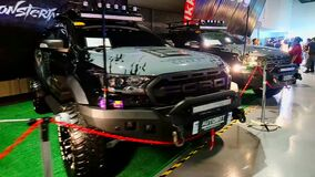 Ford ranger raptor pick up at Trans Sport Show in SMX Convention Center, Pasay, Philippines