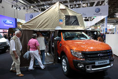 Ford Ranger with tent Stock Image