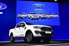 Ford Ranger Wildtrak uppsamlingar på expon för Thailand Internationalmotor arkivfoto