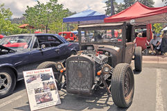Ford Rat Rod. This 1927 Ford is reminiscent of the cars drawn by Ed `Big Daddy` Roth that always had an over-sized rodent driving them. Rat Rods are made from Stock Photos