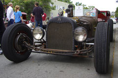 Ford Rat Rod 1926 at the show cars. Front view. Ford Rat Rod 1926 at the show. Front view. Photo was taken at the sixth annual exhibition of vintage classic cars Royalty Free Stock Image