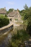 Ford through river at Lacock. Wiltshire. England Royalty Free Stock Photos