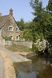 Ford through river at Lacock. Wiltshire. England Stock Photography