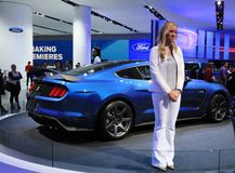Ford Shelby GT350R Mustang displayed at the auto show Stock Photo