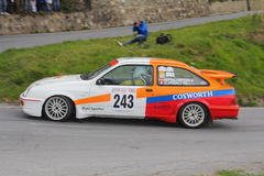 Ford Sierra Cosworth  race during the 64th Sanremo rally Stock Photography