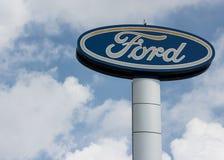 Ford signage Zakładający Henry Ford obraz stock