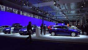 Ford stand at the motor show stock footage