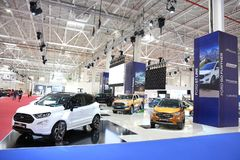 Ford stand at SIAB 2018, Romexpo, Bucharest, Romania. The international automobile saloon in Bucharest Stock Image