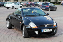 Ford street ka. A snapshot with a convertible Ford street ka in the parking lot Stock Photography