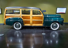 1947 Ford Super delux Woodie Station Wagon. 1947 Ford Super Deluxe Woodie Station Wagon, on display at the American Car Museum, Tacoma, Washington. 9 May, 2015 Stock Images