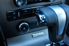Ford Sync. Detail of the Sync logo, on a Ford vehicle. Ford SYNC is a integrated in-vehicle communications and entertainment system that allows users to make Stock Photography