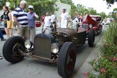 Ford szczur Rod 1926 przy przedstawienie samochodami fotografia stock