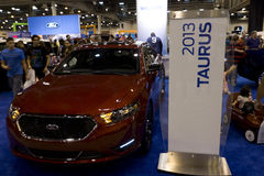 Ford Taurus. HOUSTON - JANUARY 2012: The Ford Taurus at the Houston International Auto Show on January 28, 2012 in Houston, Texas Stock Image