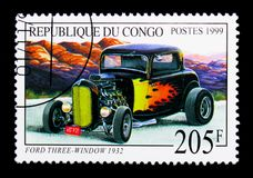 Ford Three-Window 1932, vieux serie d'automobiles, vers 1999 Photographie stock