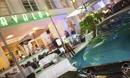 Ford Thunderbird and Avalon Hotel Royalty Free Stock Photography