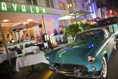 Ford Thunderbird and Avalon Hotel Stock Photo