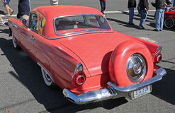 1955 Ford Thunderbird. CONCORD, NC — April 8, 2017:  A 1955 Ford Thunderbird automobile on display at the Pennzoil AutoFair classic car show held at Charlotte Royalty Free Stock Images