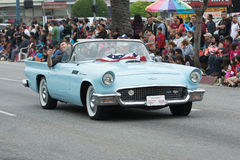 Ford Thunderbird Convertible Royalty-vrije Stock Foto's