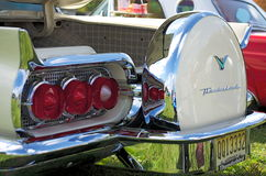 A rear view of a classic 1960 Ford Thunderbirdin cream Royalty Free Stock Photos