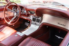 Ford Thunderbird Dashboard 1963 Fotografia de Stock