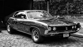 Ford Torino Cobra (black and white) Royalty Free Stock Photo