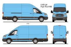 Ford Transit Cargo LWB Highroof L4H3 Stock Afbeeldingen