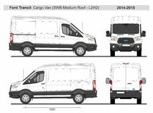 Ford Transit Cargo Van SWB Medium Roof L2H2 2014-2018