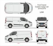 Free Ford Transit Custom Cargo Van L1H1 2018-2019 Royalty Free Stock Photo - 138359265