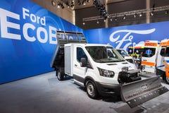 Ford Transit EcoBlue lastbilar Royaltyfri Fotografi