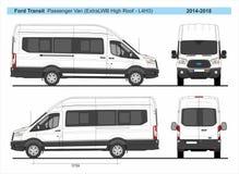 Free Ford Transit Passenger Van ExtraLWB High Roof L4H3 2014-2018 Royalty Free Stock Image - 135454866