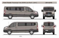 Free Ford Transit Passenger Van MWB Low Roof L3H1 2014-2018 Stock Photos - 136523293