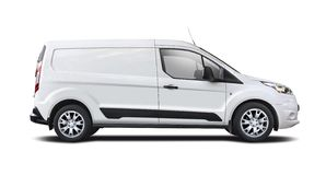 Ford Transit side view isolated on white Stock Photos