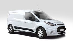 Ford Transit side view isolated on white Stock Image