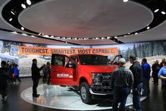 Ford Truck op Vertoning bij Noordamerikaanse Internationale Auto van 2017 toont Stock Afbeeldingen