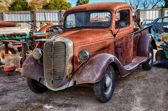 1937 Ford Truck, Salvage Yard Stock Images