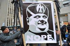 ford upptar protest rånar tecknet toronto Arkivbild