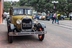 Ford Vintage Car in Napier, Nieuw Zeeland 1927 - 1930 Stock Afbeelding