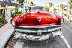 Ford Vintage car parked at Ocean Royalty Free Stock Photography