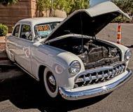 1950 Ford. White Ford custom street cruiser royalty free stock images