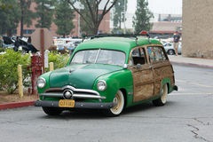 Ford Woodie Wagon car on display Royalty Free Stock Images