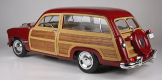 Ford Woody Wagon 1949. 1949 Ford Woody Wagon, Motor City Classics 1:18 scale die-cast precision scale replica issued in 1999 Royalty Free Stock Photo