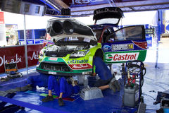 Ford WRC team Service Stock Image