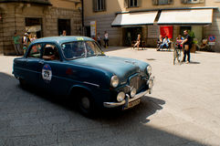 Ford Zephyr in Mille Miglia 2016 Royalty-vrije Stock Afbeelding