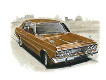 Ford Zodiac MkIV illustration stock
