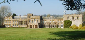 Forde Abbey, Somerset. Facade of ancient cistercian monastery, Somerset, England Stock Photography
