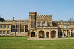 Forde Abbey, Somerset. Tower and entrance of ancient cistercian monastery, Somerset, England Royalty Free Stock Photos
