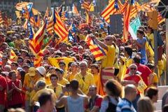 Fordernde Unabhängigkeit der Sammlung für Katalonien Stockfotografie