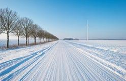 Forderung durchgesetzt im Schnee Lizenzfreie Stockbilder