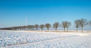 Forderung durchgesetzt im Schnee Stockfoto